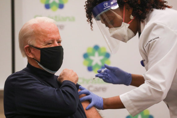 Reuters / Foto de Scanpix / Joe Biden está vacunado contra el coronavirus