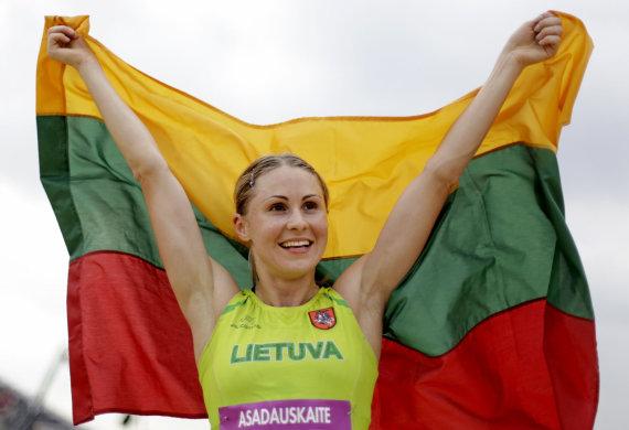 """""""Scanpix"""" nuotr./Laura Asadauskaitė Londono olimpinėse žaidynėse iškovojo aukso medalį."""