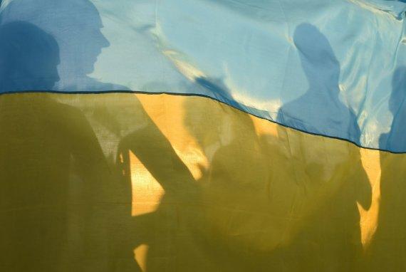 "AFP/""Scanpix"" nuotr./Ukrainos vėliava"