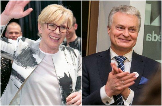 15min koliažas/Ingrida Šimonytė ir Gitanas Nausėda