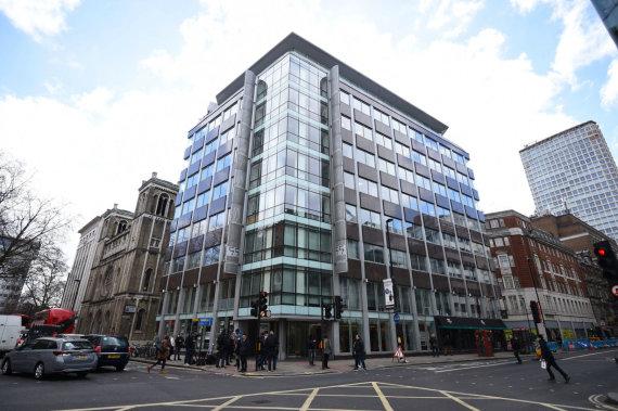 """Scanpix""/AP nuotr./Įmonės ""Cambridge Analytica"" biuras Londone"