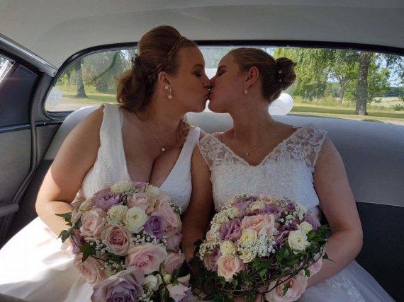 """""""Facebook"""" nuotr./Viktorija Budrytė Švedijoje susituokė su savo širdies drauge švede Marina Melody Winnersjo."""