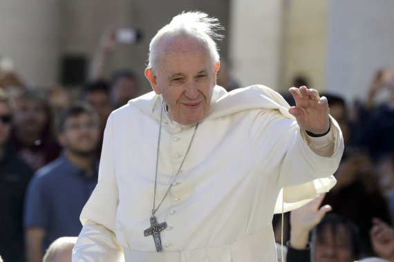 """""""Scanpix""""/AP nuotr./Popiežius Pranciškus"""