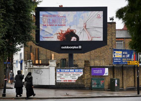 """Reuters""/""Scanpix"" nuotr./Reklama ""Vilnius – The G-spot of Europe"" Londone"