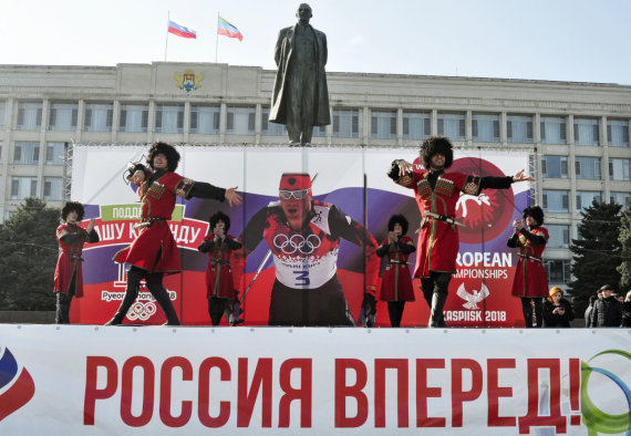 """""""Scanpix"""" nuotr./Rusija nepripažįsta sukčiavimo dopingu ir rengiasi Pjongčango olimpinėms žaidynėms."""