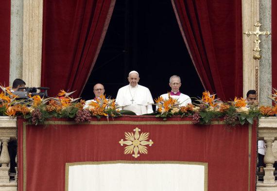 """""""Scanpix"""" nuotr./Popiežiaus kreipimasis Vatikane"""