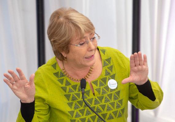 """AFP/""""Scanpix"""" nuotr./Michelle Bachelet"""