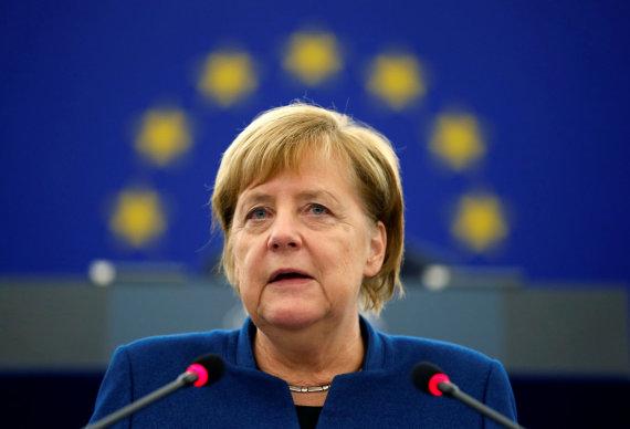 """Reuters""/""Scanpix"" nuotr./Angela Merkel Europos Parlamente"