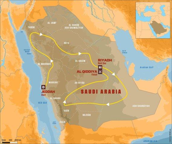 Dakaro ralis 2020 vyks Saudo Arabijoje