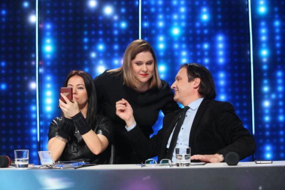 "Vidmanto Balkūno / 15min nuotr./""Eurovizijos"" atrankos akimirka"