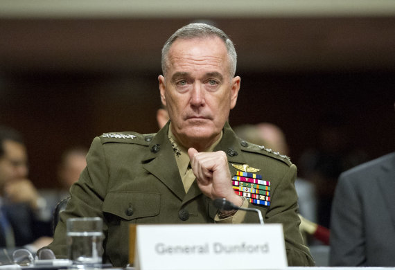 """""""Scanpix"""" nuotr./JAV Jungtinio štabų vadų komiteto viršininkas generolas Joe Dunfordas"""