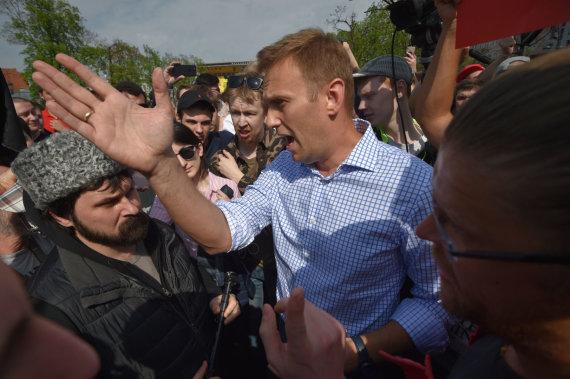 """""""Scanpix""""/""""Sipa USA"""" nuotr./Aleksejus Navalnas"""