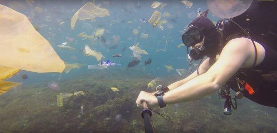Stop kadras/Nardytojo nufilmuotas vandenynas Indonezijoje