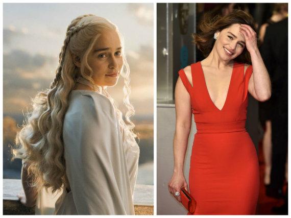 """Scanpix"" nuotr./Emilia Clarke seriale ""Sostų karai"" ir realiame gyvenime"