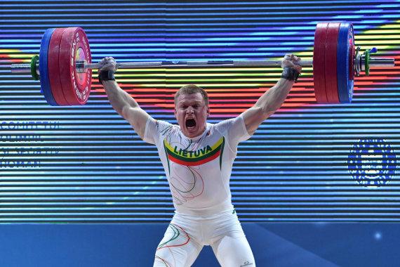 """AFP/""""Scanpix"""" nuotr./Žygimantas Stanulis 2018 m. Europos čempionate iškovojo sidabrą."""