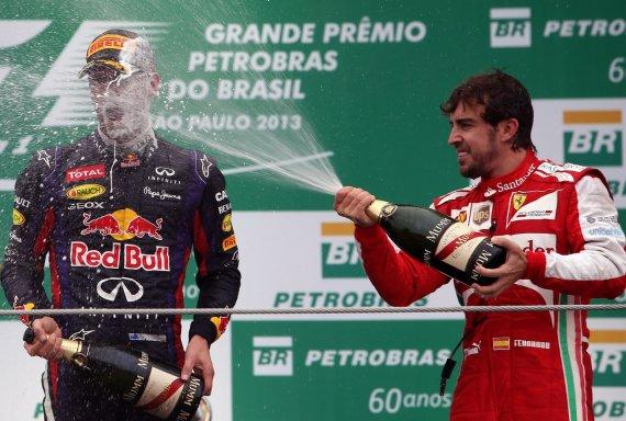 Iš kairės: Sebastianas Vettelis ir Fernando Alonso