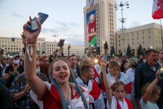 """Scanpix""/ITAR-TASS nuotr./Protestas Baltarusijoje"