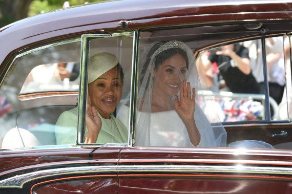 "AFP/""Scanpix"" nuotr./Meghan Markle su mama Doria Ragland"