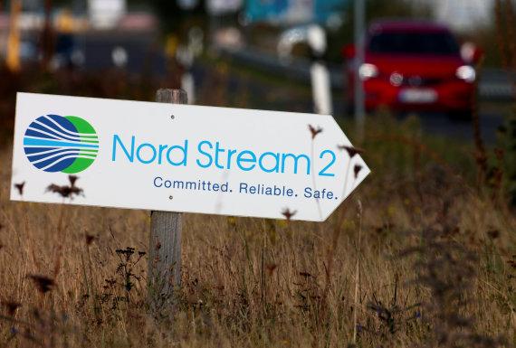 """""""Reuters""""/""""Scanpix"""" nuotr./""""Nord Stream 2"""" dujotiekis"""