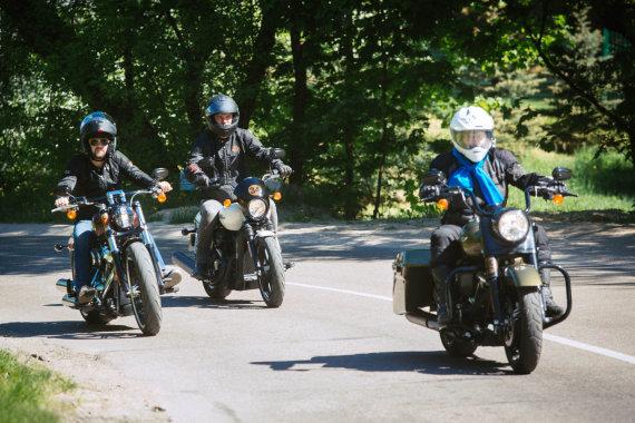 """Irmanto Gelūno / 15min nuotr./""""Harley Davidson"""" 2018 metų modelių bandomasis važiavimas"""