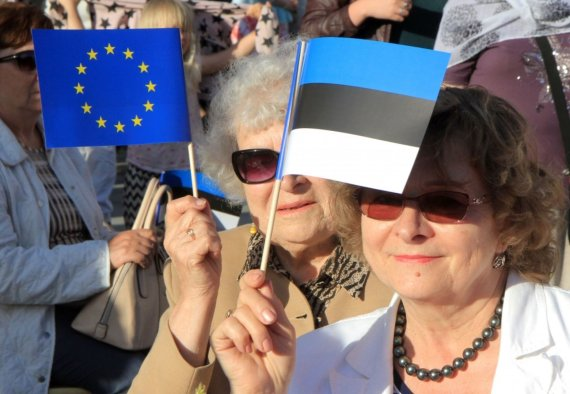 """AFP/""""Scanpix"""" nuotr./Estija pradeda pirmininkavimą ES"""