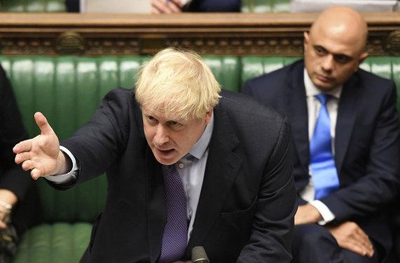 """""""Scanpix""""/AP nuotr./Borisas Johnsonas Bendruomenių Rūmuose"""