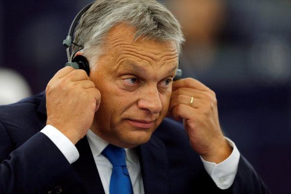 """Reuters""/""Scanpix"" nuotr./Viktoras Orbanas Europos Parlamente"