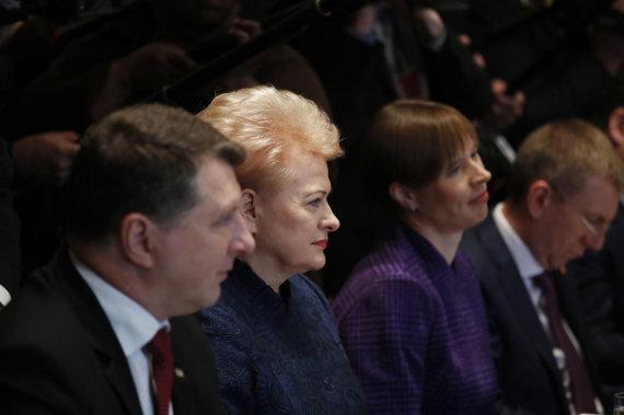 """""""Reuters""""/""""Scanpix"""" nuotr./D.Trumpo ir Baltijos šalių prezidentų susitikimas Baltuosiuose rūmuose"""