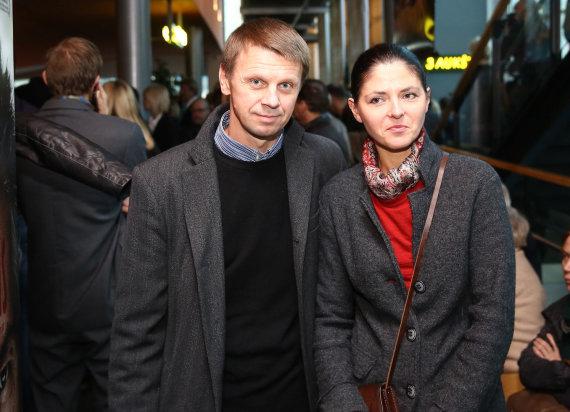 Luko Balandžio/Žmonės.lt nuotr./Rolandas Kazlas su žmona Sigita