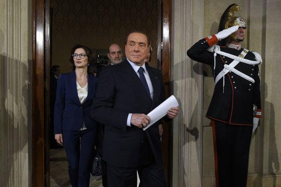 """""""Scanpix""""/""""Sipa USA"""" nuotr./Silvio Berlusconi"""