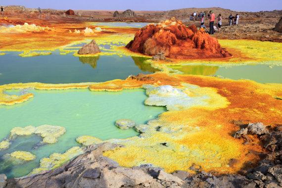 """""""Shutterstock"""" nuotr./Siurrealistinis Afarų (Danakilių) įdubos peizažas, Afrika"""