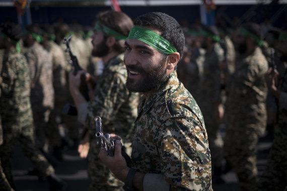 """""""Scanpix""""/""""SIPA"""" nuotr./Irano revoliucinės gvardijos kariai"""