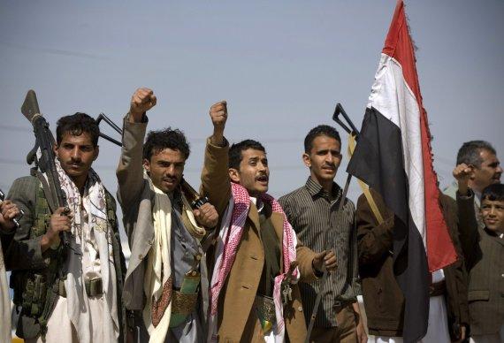 """""""Scanpix""""/AP nuotr./Husių kovotojai Sanoje"""
