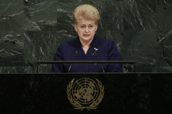 """""""Scanpix""""/AP nuotr./Dalia Grybauskaitė"""