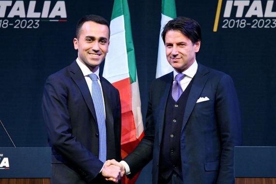 "AFP/""Scanpix"" nuotr./Luigi Di Maio ir Giuseppe Conte"