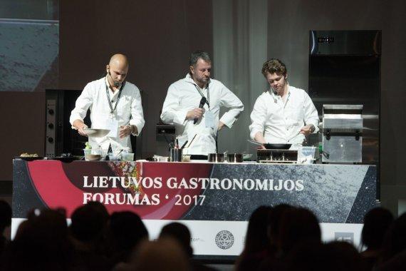 Organizatorių archyvo nuotr./Pirmojo Lietuvos gastronomijos forumo akimirka