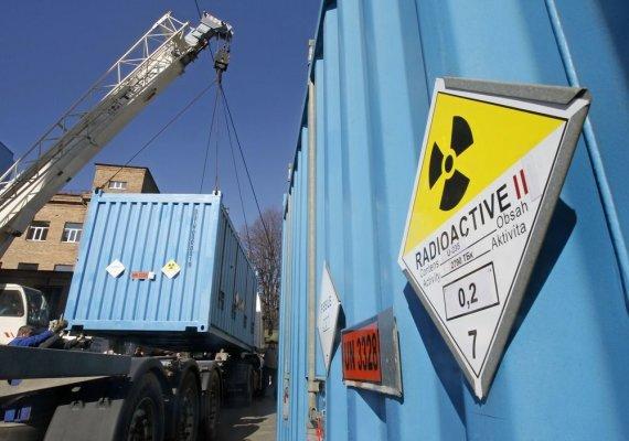 """Reuters""/""Scanpix"" nuotr./Konteineriai su itin prisodrintu uranu"