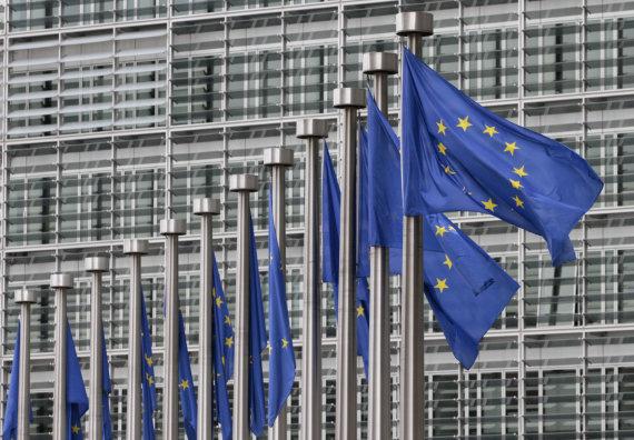 """""""Scanpix""""/AP nuotr./ES vėliavos"""