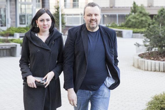 Luko Balandžio/15min.lt nuotr./Andrius Užkalnis ir Fausta Marija Leščiauskaitė