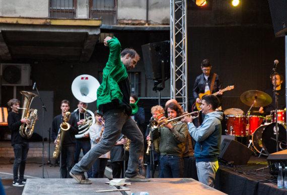 """Luko Balandžio / 15min nuotr./ """"Peronas Jazz Festival"""" akimirka"""