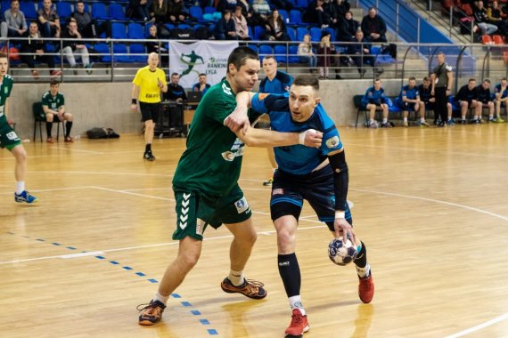Facebook.com/KTU.handball nuotr./KTU rankininkų ataka