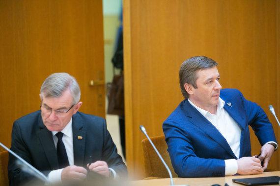 Josvydo Elinsko / 15min nuotr./Viktoras Pranckietis ir Ramūnas Karbauskis