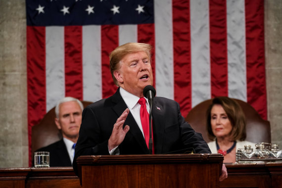 """""""Reuters""""/""""Scanpix"""" nuotr./Donaldas Trumpas Kongrese"""