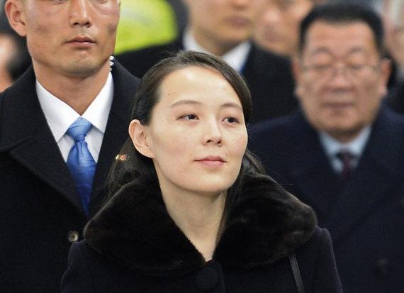 """""""Scanpix""""/AP nuotr./Šiaurės Korėjos lyderio Kim Jong Uno sesuo Kim Yo Jong Pietų Korėjoje"""