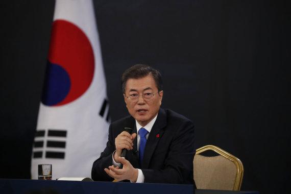 """""""Scanpix""""/AP nuotr./Pietų Korėjos prezidentas Moon Jae-inas"""