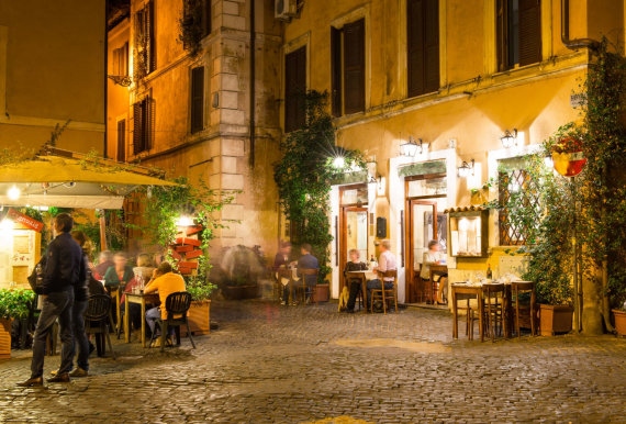 123rf.com nuotr./Restoranas Italijoje