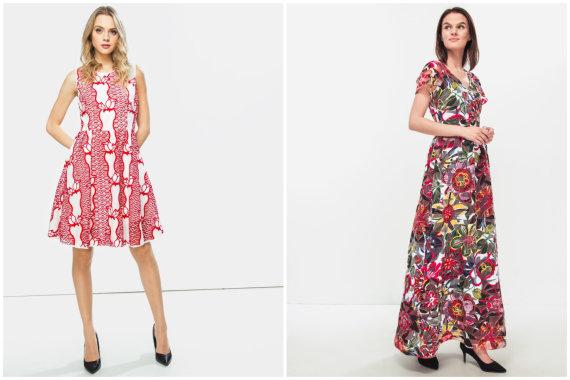 """Partnerio nuotr./""""Silvian Heach"""" suknelė 99,99€, """"Max&Co"""" suknelė 129€"""