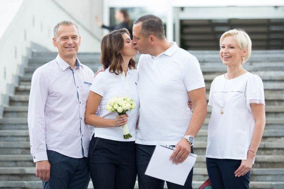 Luko Balandžio / 15min nuotr./ Karolinos Liukaitytės ir Andriaus Čelkio vestuvių akimirka