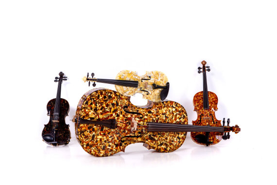"Projekto partnerio nuotr./""Amber Quartet"" instrumentai"