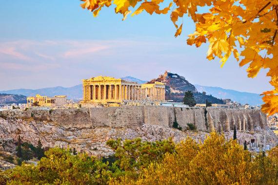 123rf.com nuotr./Vaizdas į Akropolį Atėnuose